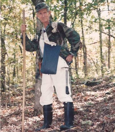 "Lloyd Brisco geared up to hunt ""sang"""