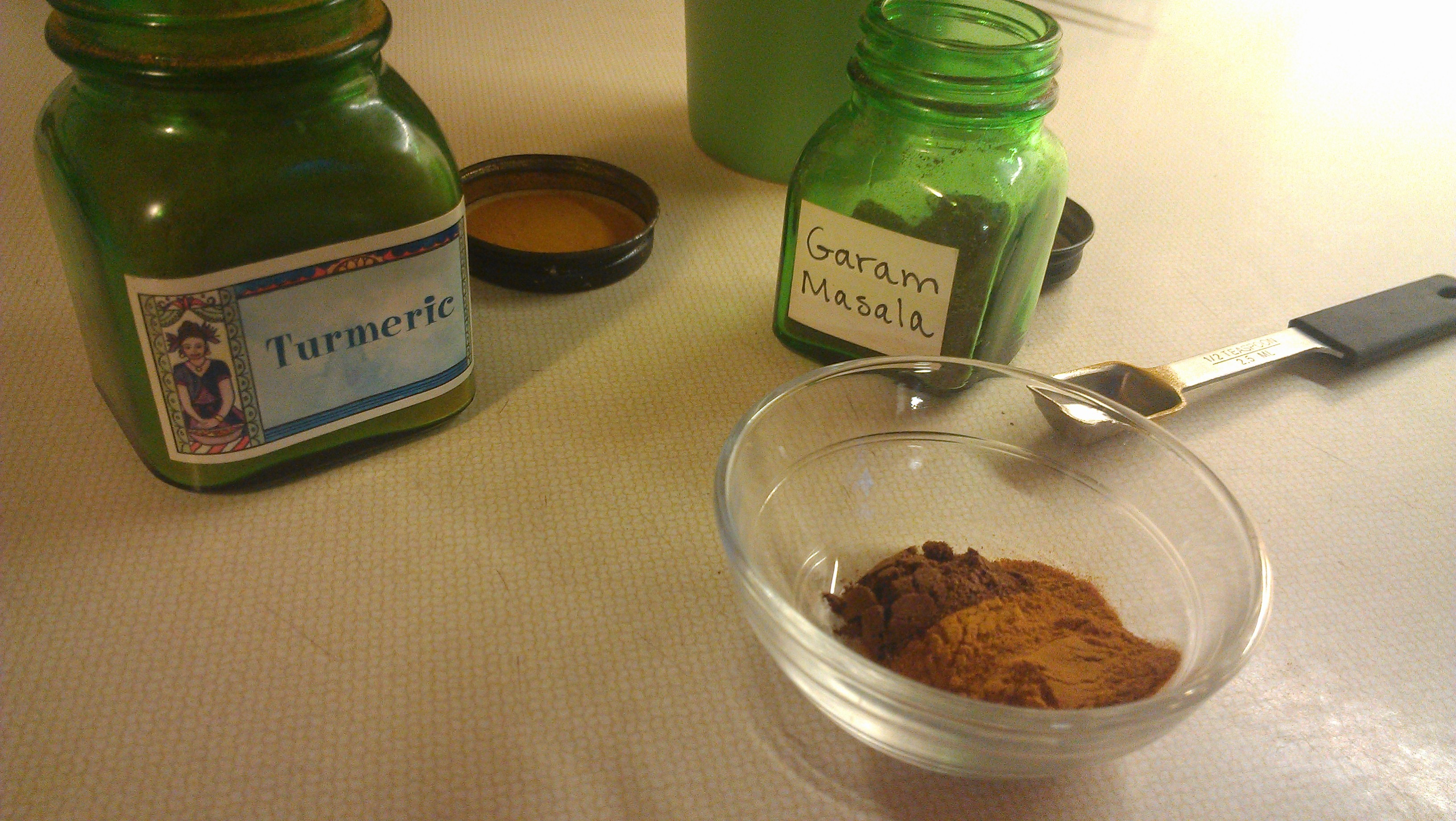 Turmeric and Garam Masala